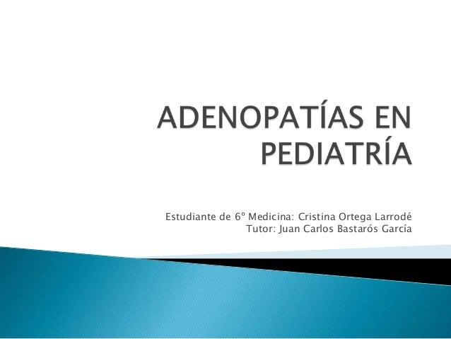 Estudiante de 6º Medicina: Cristina Ortega Larrodé Tutor: Juan Carlos Bastarós García