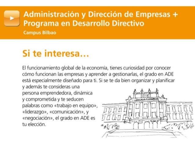 Grado en ADE + Programa en Desarrollo Directivo