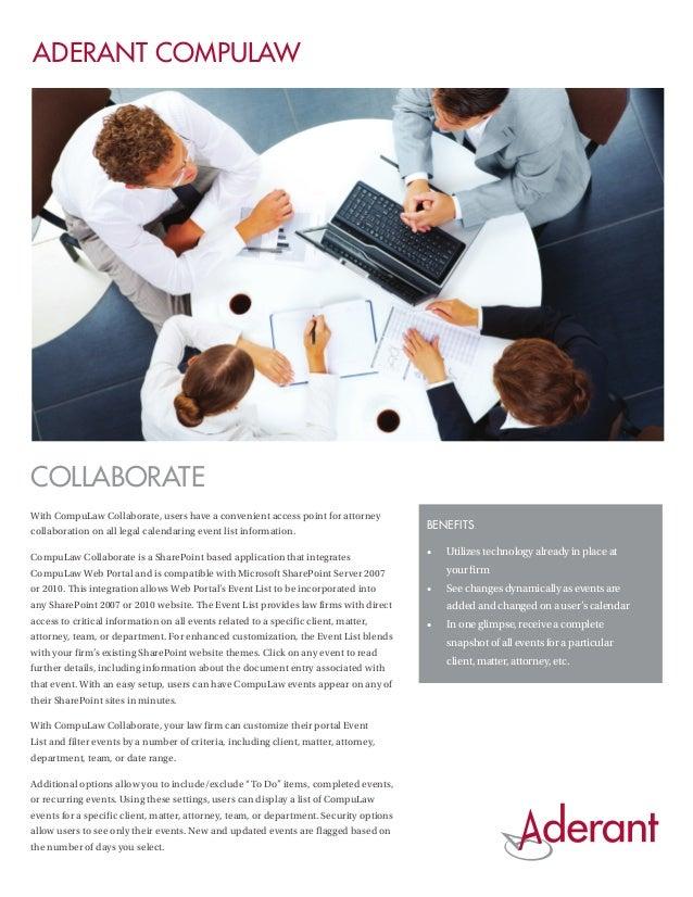 Aderant CompuLaw Collaborate