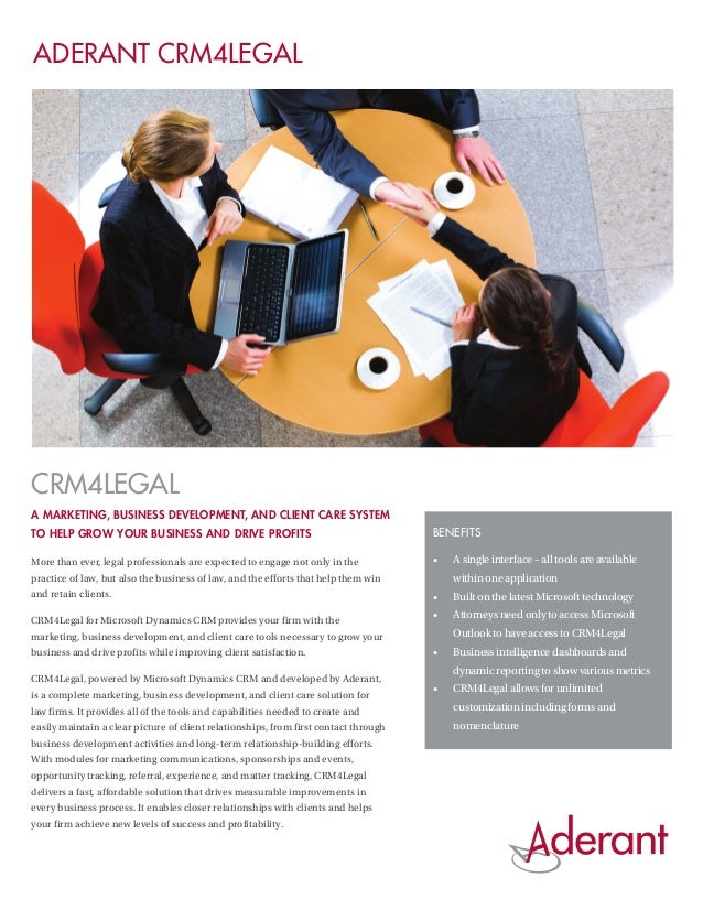 Aderant CRM4Legal - A Marketing, Business Development, and Client Care System