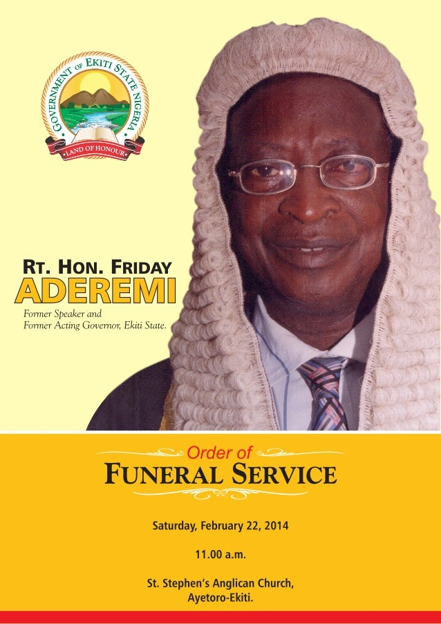 Order of Funeral Service