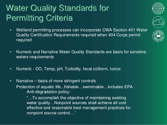 Permitting Process Wetlands Permitting Processes Can