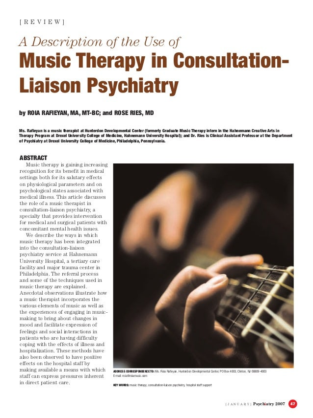 music therapy and its positive effects on Optimized and combined intervention of therapeutic instrumental music performance can improve the upper-limb function in children with severe bilateral cp, the authors wrote music therapy is a useful tool in rehabilitation and its positive effects remain four months after completing the treatment, they added.