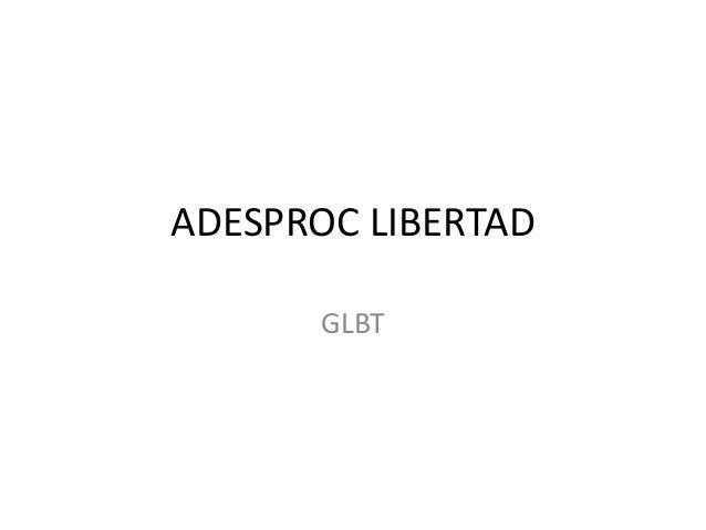 ADESPROC LIBERTAD      GLBT