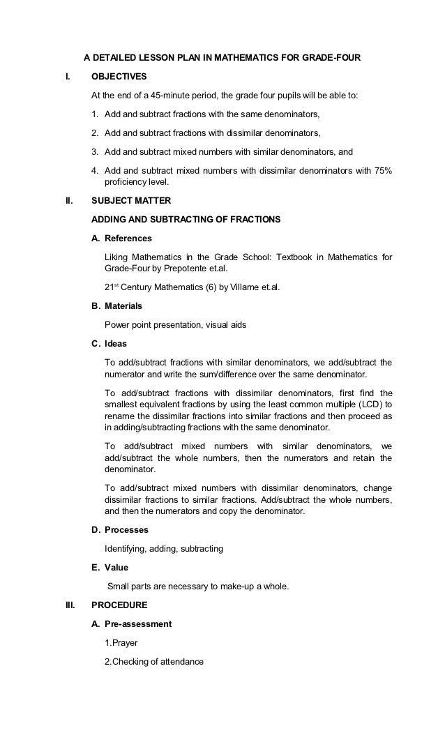 detailed lesson plan in demonstration method Lesson planning ii–29 lesson planning  experience will guide how detailed a lesson plan needs to be sharing the plan with learners (eg, writing the objective .