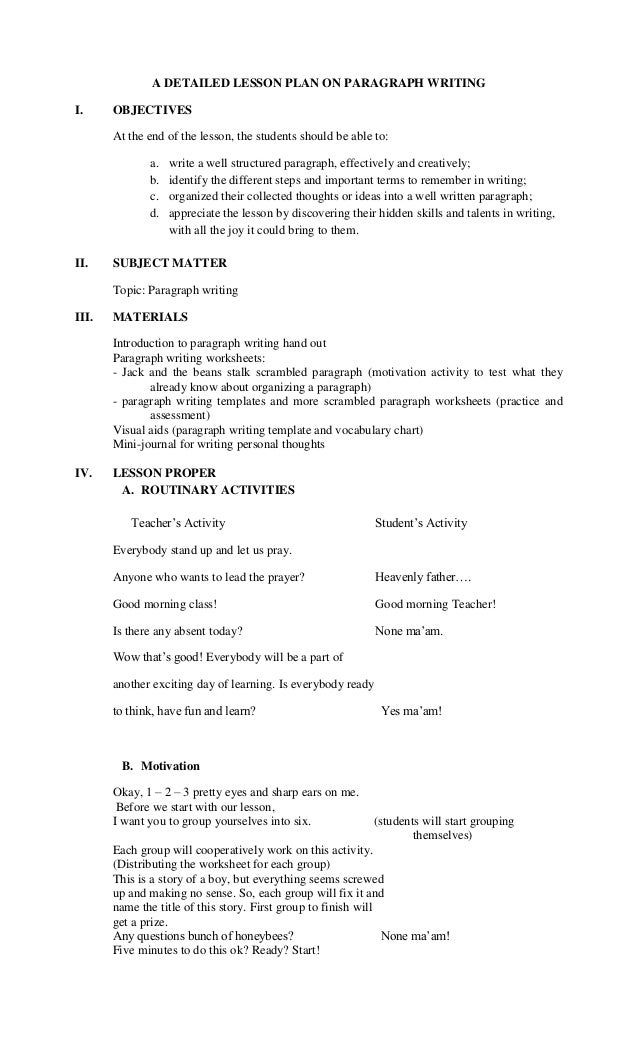 descriptive essay lesson plans high school descriptive