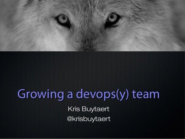 Building A devopsy Team