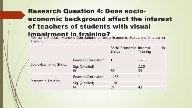 Research papers on socio economic status