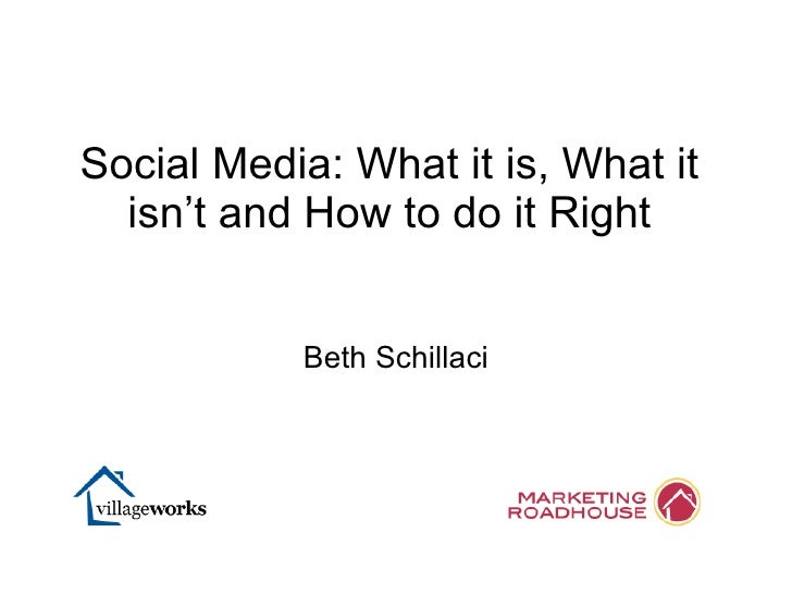 What Social Media Is and Isn't