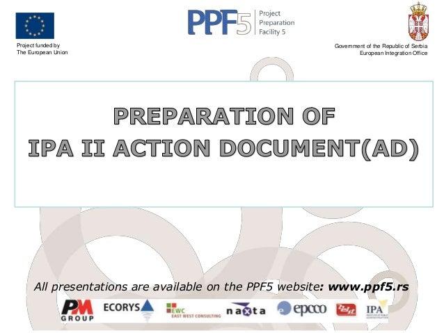 Preparation of IPA II Action Documents