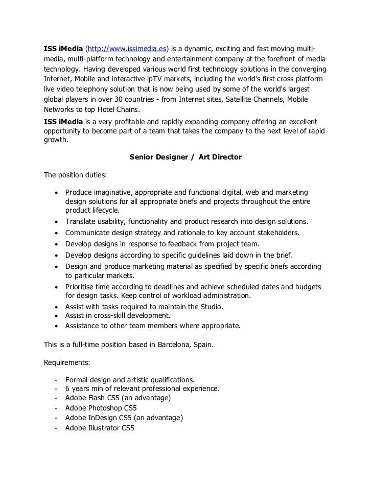 Senior art director cover letter. College paper Service ...