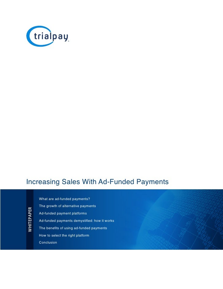 Increasing Sales With Ad-Funded Payments