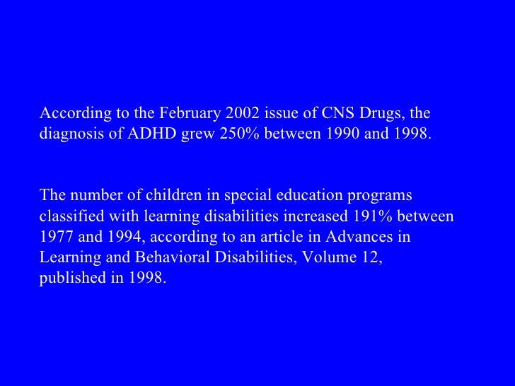 sociology and adhd The adhd social construct theory suggests that the observed behaviors are not abnormal, but normal behavior for a part of the human race.