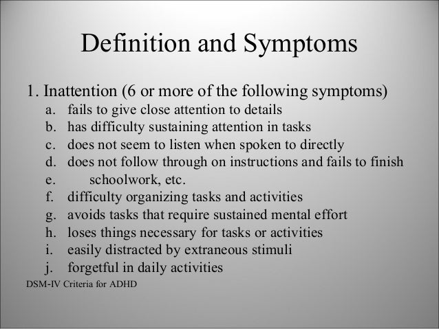 the term attention deficit hyperactivity disorder psychology essay Methods the properties of adhd symptoms rated by the parents of 474   psychiatry and psychology  for the diagnosis of attention-deficit/hyperactivity  disorder (adhd), the  we conclude that, in absolute terms, the discrimination  parameters have been very high (170)  articles citing this paper.