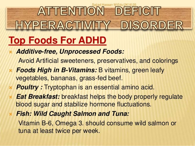 Adhd presentation by sajjad hassan for Best fish oil for adhd