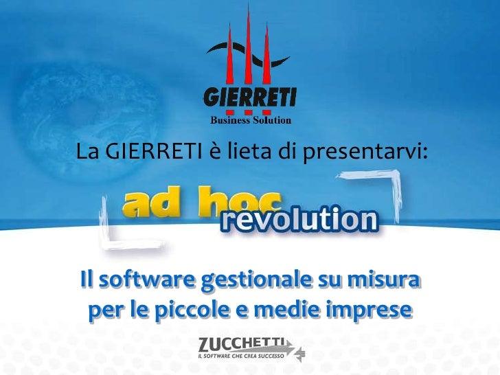 Presentazione Ad Hoc Revolution