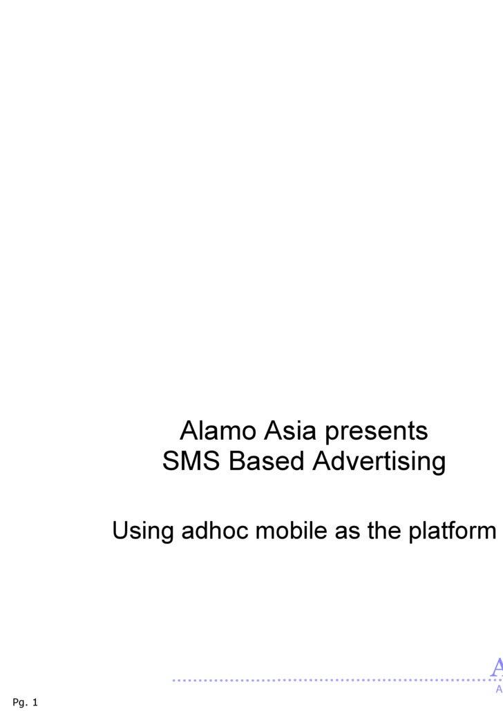 Adhoc Mobile Platform