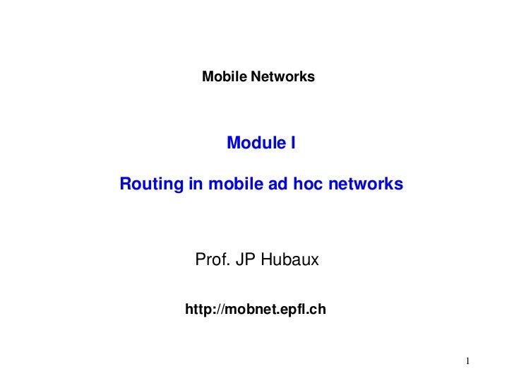 Ad hoc routing
