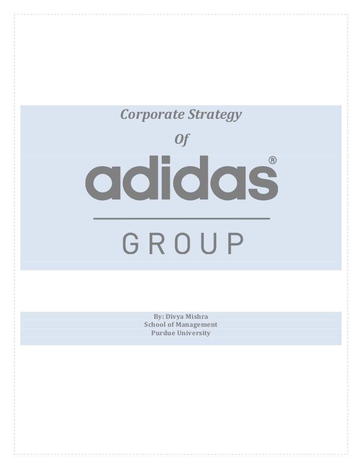 Adidas Corporate Strategy