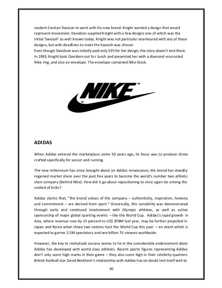 nikes marketing model essay Its marketing strategy has catapulted the company to its lofty perch atop the sports gear, apparel and footwear marketplace in fact, according to d&b site hoovers , nike is the world's #1 shoe .