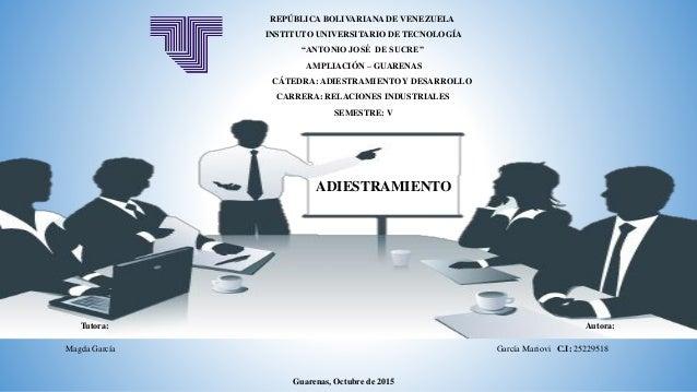 """REPÚBLICA BOLIVARIANA DE VENEZUELA INSTITUTO UNIVERSITARIO DE TECNOLOGÍA """"ANTONIO JOSÉ DE SUCRE"""" AMPLIACIÓN – GUARENAS CÁT..."""