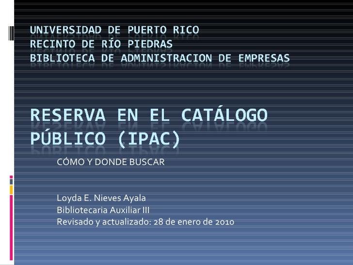 Adiestramiento Reserva Catalogo PúBlico Revisado Enero 2010