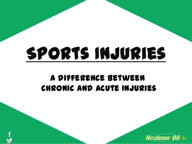 Sports Injuries A difference between Chronic and Acute Injuries