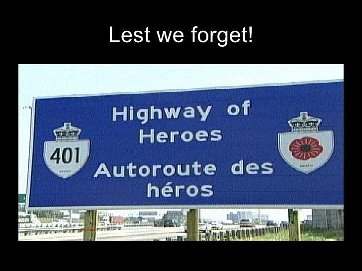 Adifferentviewofthe Highwayof Heroes