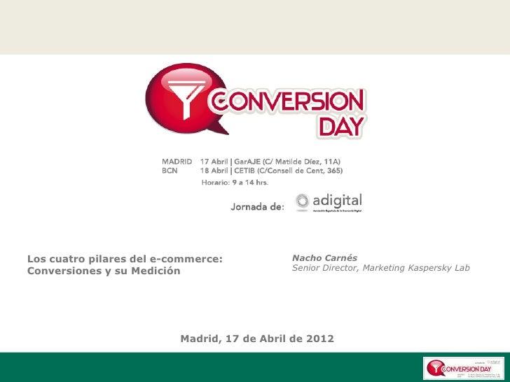 Los cuatro pilares del e-commerce:           Nacho CarnésConversiones y su Medición                   Senior Director, Mar...