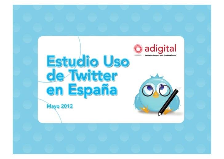 Uso de Twitter en España 2012
