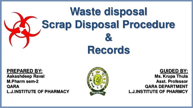 PHARMACEUTICAL WASTE MANAGEMENT IN INDIA