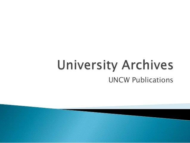 UNCW Publications