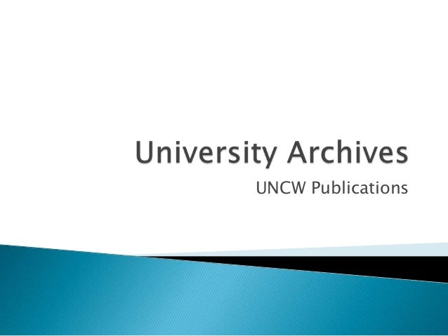 Lunch & Learn: Providing Long-term Access to UNCW-Produced Publications