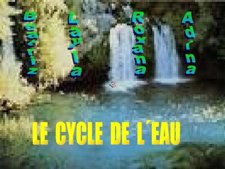 LE  CYCLE  DE  L´EAU Beatriz Layla Roxana Adina