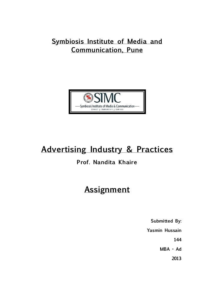 Symbiosis Institute of Media and       Communication, PuneAdvertising Industry & Practices         Prof. Nandita Khaire   ...