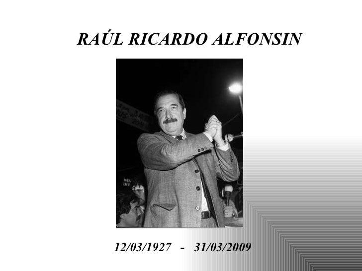 Adios Presidente Raúl Alfonsín