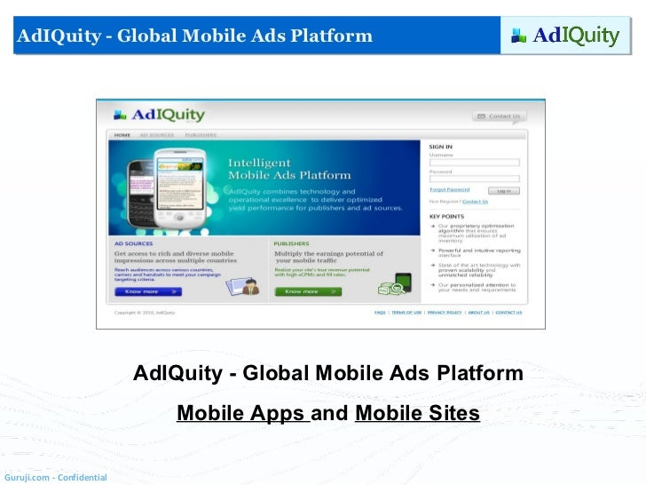 AdIQuity - Global Mobile Ads Platform Mobile Apps  and  Mobile Sites AdIQuity - Global Mobile Ads Platform