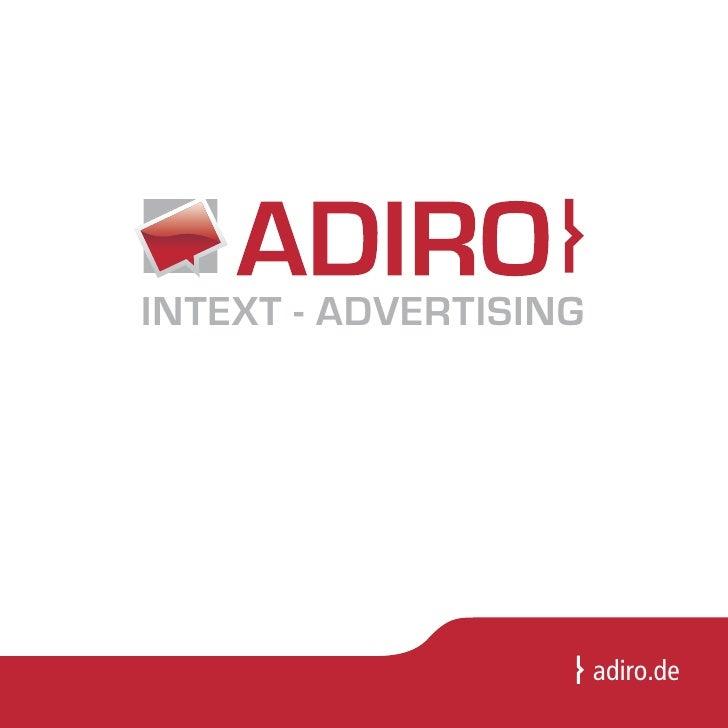 Adiro Imagebroschüre