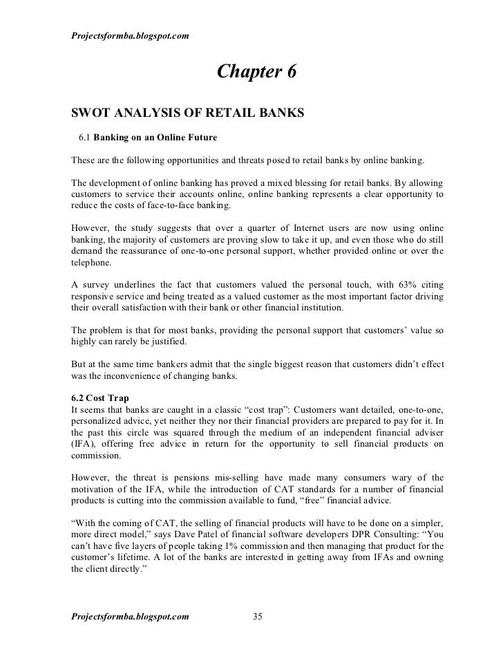 Banking thesis pdf