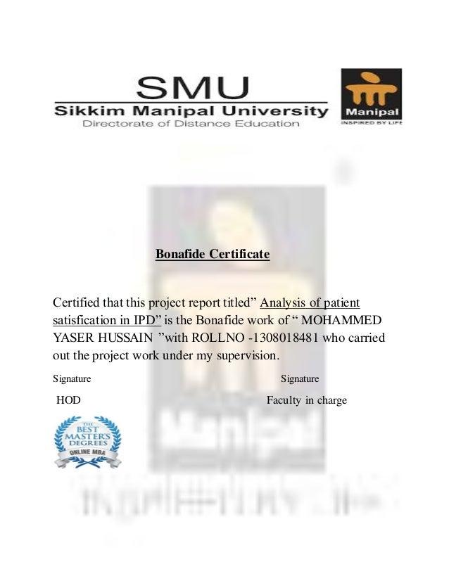 Course dissertation online satisfaction