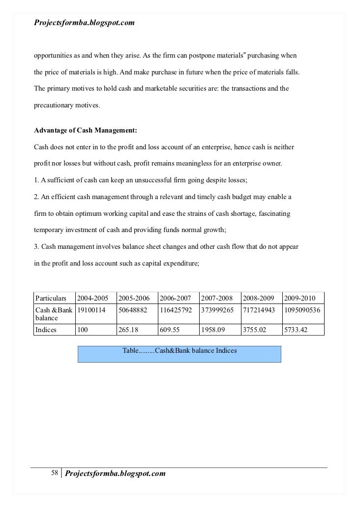 Research paper on working capital management quiz