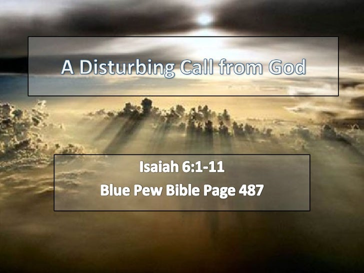A Disturbing Call From God