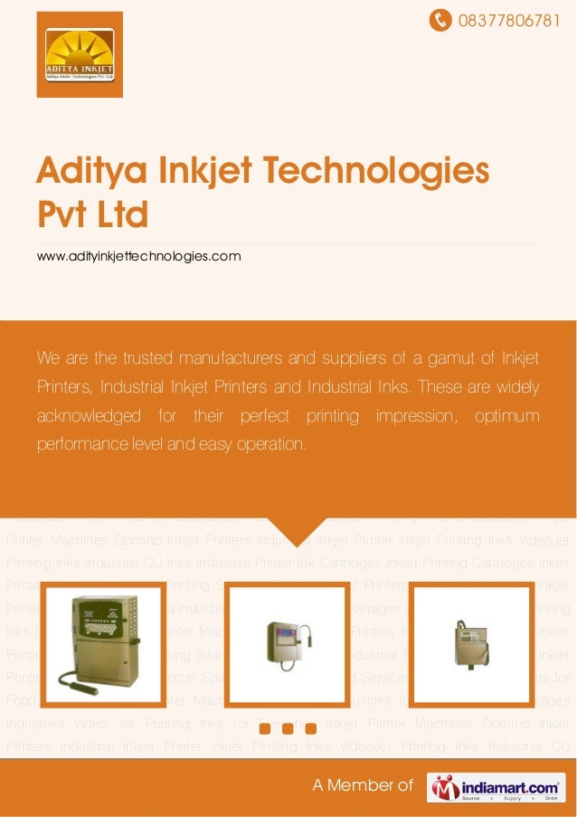 08377806781A Member ofAditya Inkjet TechnologiesPvt Ltdwww.adityinkjettechnologies.comInkjet Printer Machines Domino Inkje...