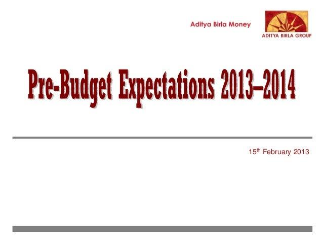 Aditya birla money union budget 2013 2014-150213