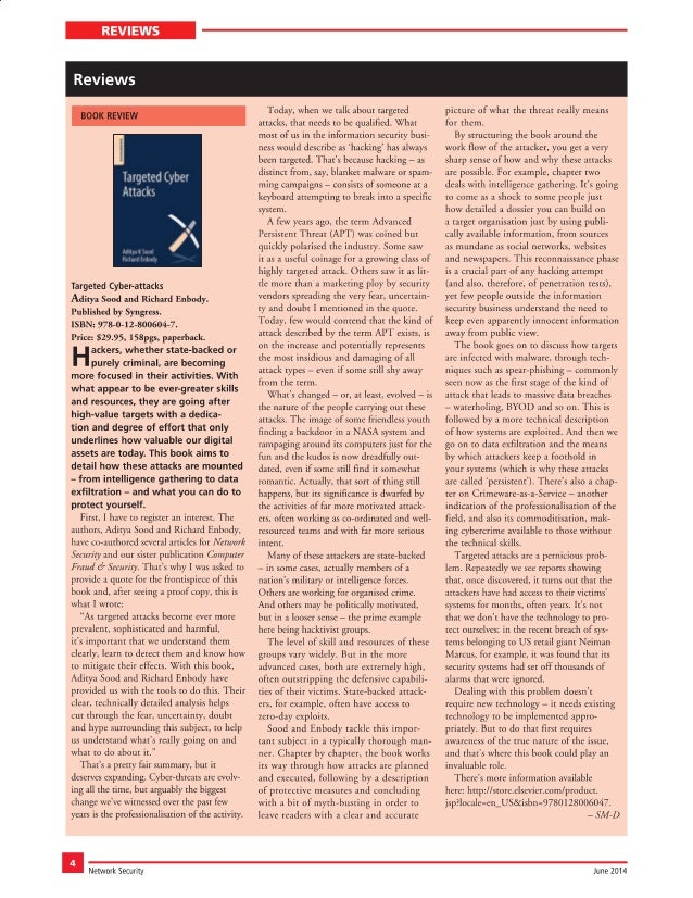 Network Security : Book Review : Targeted Cyber Attacks : Aditya K Sood