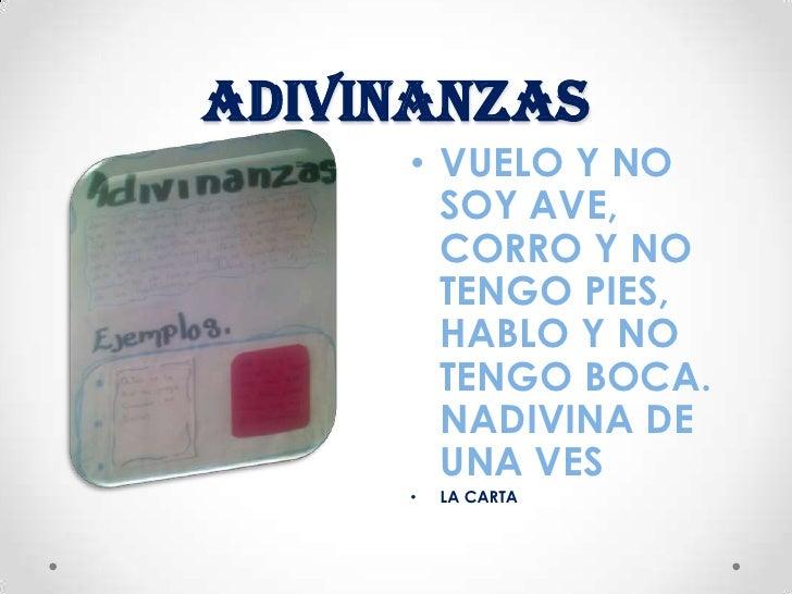 ADIVINANZAS