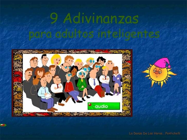 9 Adivinanzas para adultos inteligentes La Danza De Las Horas….Pontichelli