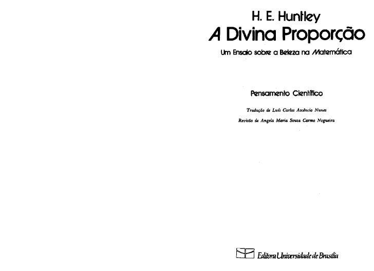A divina proporção   e. huntley
