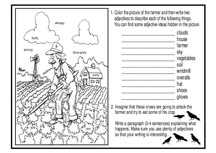 Adjective worksheets 1 new