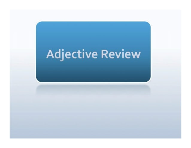 Adjective review blog
